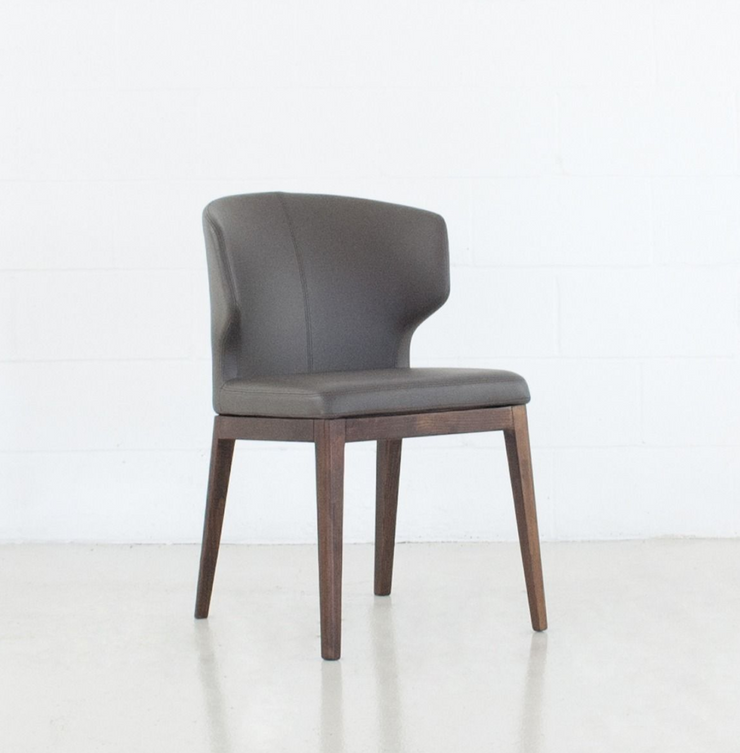 Thurston Leatherette Dining Chair With Wood Base