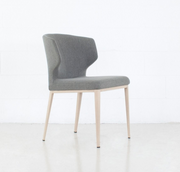 Thurston Fabric Dining Chair With Natural Wood Imprint Metal Base