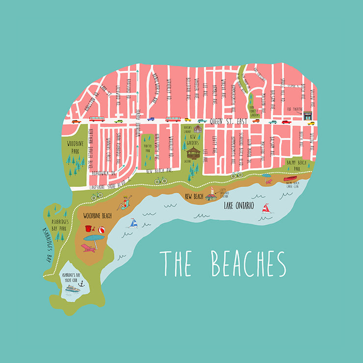 The Beaches Pillow by Persnickety Design