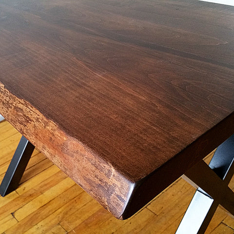 Vintage Maple Live Edge Dining Tables