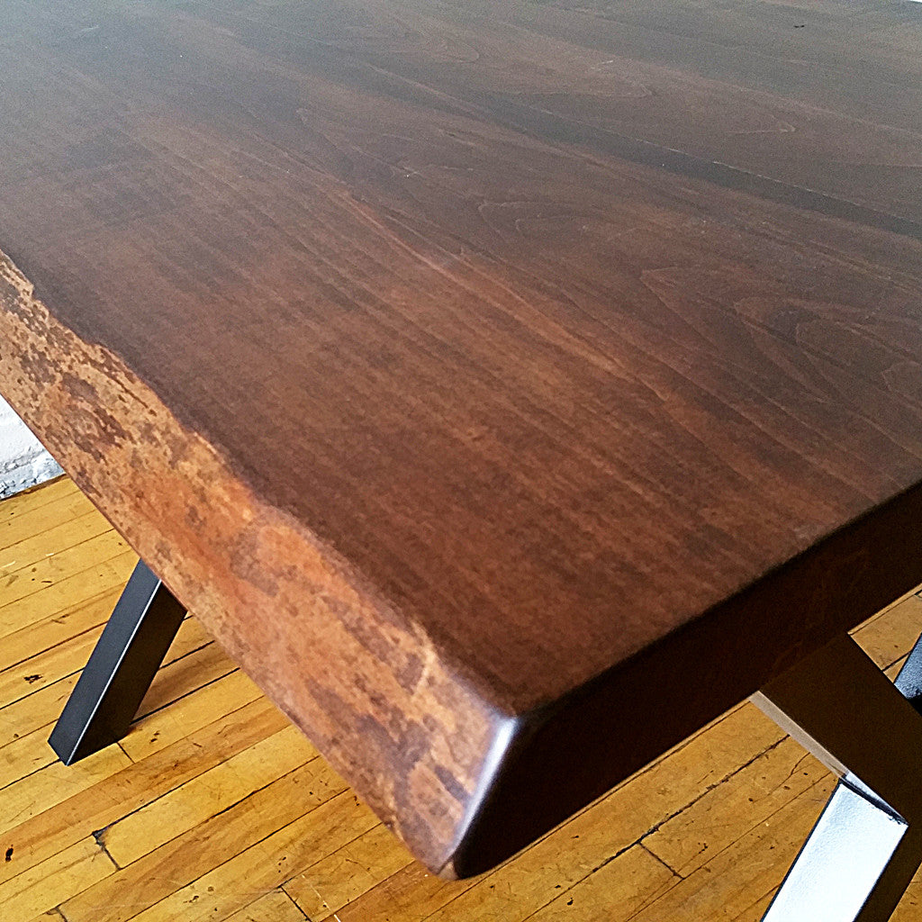 Maple live edge dining table - Vintage Maple Live Edge Dining Tables