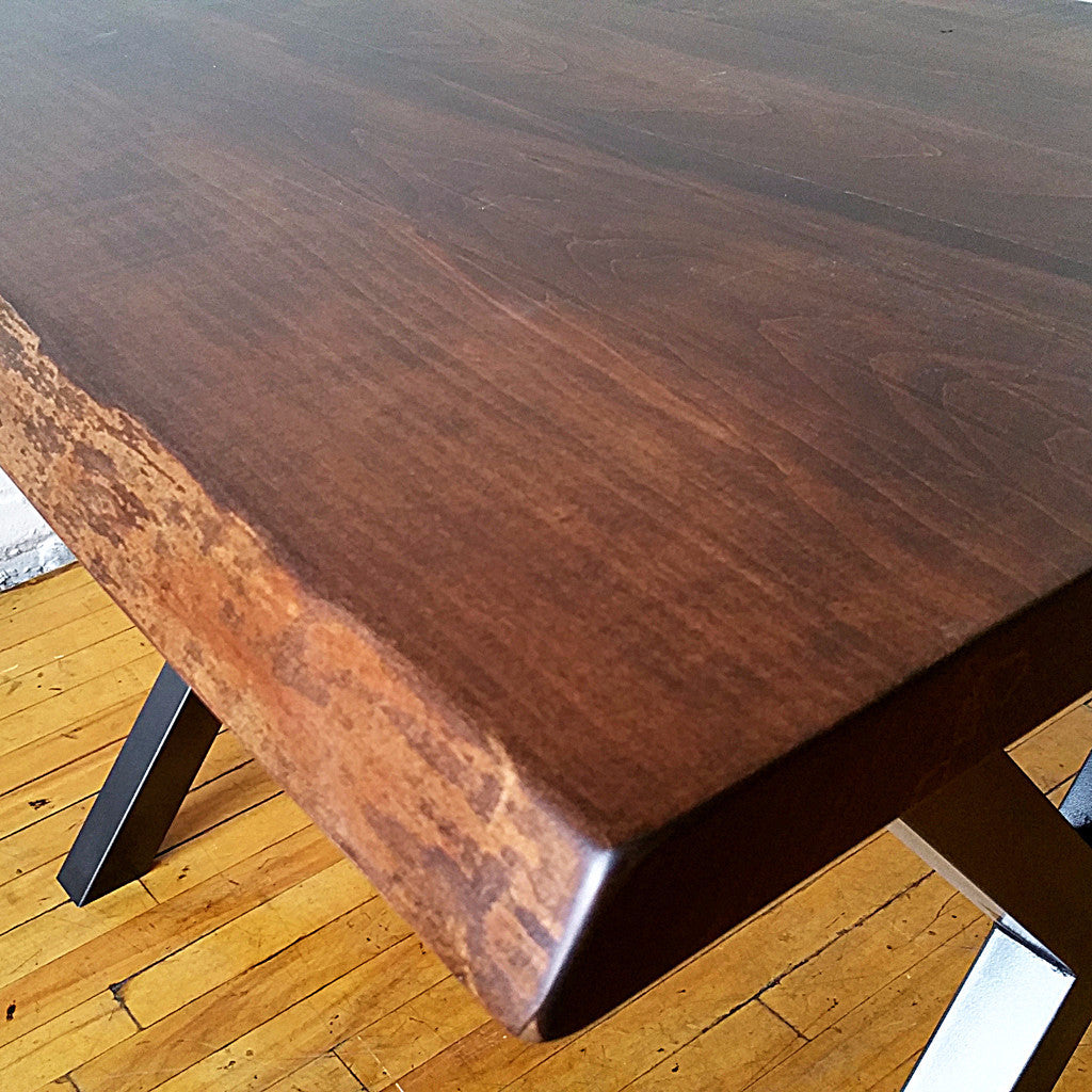 Vintage Maple Live Edge Coffee Table