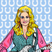 Dolly Parton Pillow by Persnickety Design