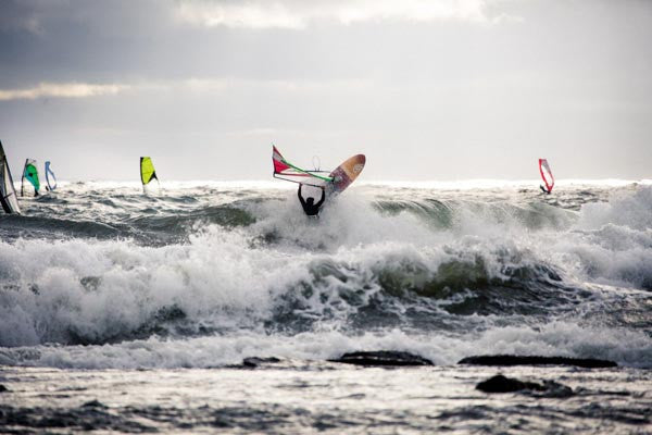 Wavesailing in Sweden