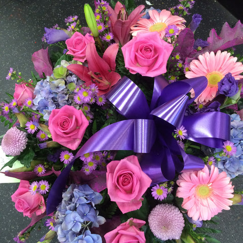 Sweet violets wreath