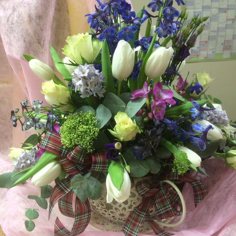 Large gift arrangement
