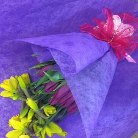 Gift wrap of spring flowers