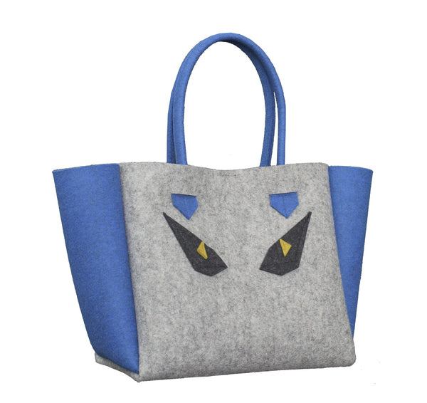 Beastie Monster Bag ArtAK Grey Blue Fendi Eyes
