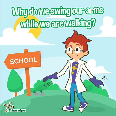 Why do we swing our arms while we are walking?