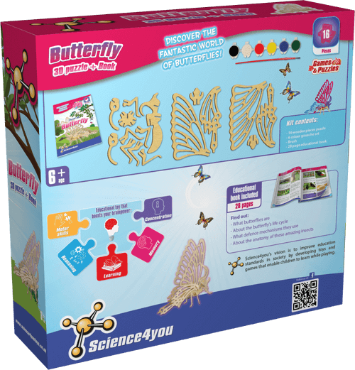 3D Wooden Puzzle: Butterfly | Games & Puzzle Toys | Educational Toys