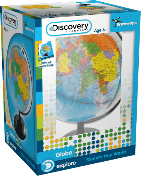 Globe: Discovery Channel | Educational Geografy Toy | STEM