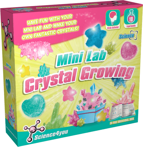Mini Lab Crystal Growing Scientific Toy front side