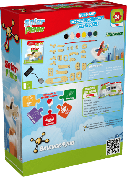Solar Plane Science4you Educational Toy back side