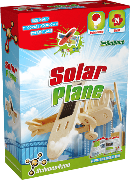 Solar Plane Science4you Educational Toy front side
