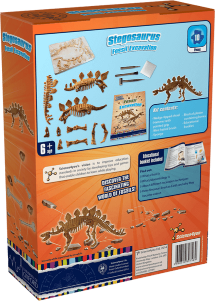Stegosaurus Fossil Excavation: University of Oxford Edition Fossil Excavation: Stegosaurus | Educational Dinosaur Toy | STEM