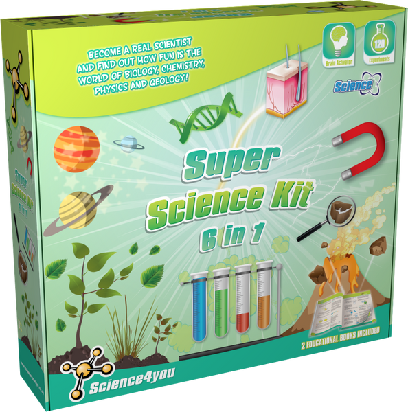 Super Science Kit 6 in 1 Educational Toy front side
