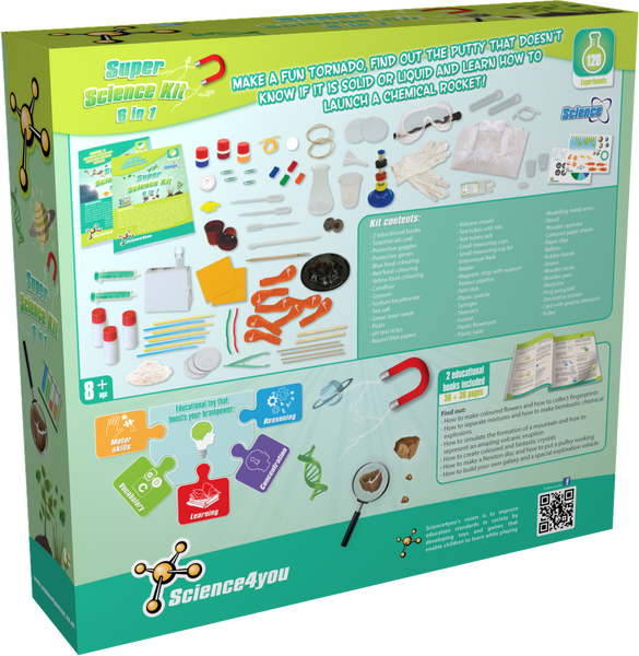 Super Science Kit 6 in 1 Educational Toy back side