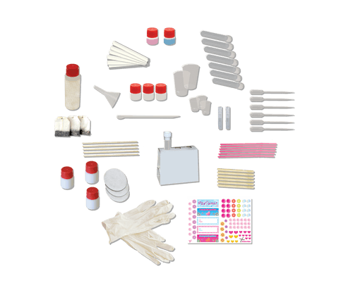 Contents of Perfume Factory toy.