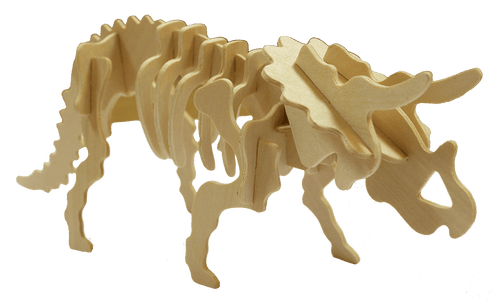 3d wooden triceratops puzzle toy
