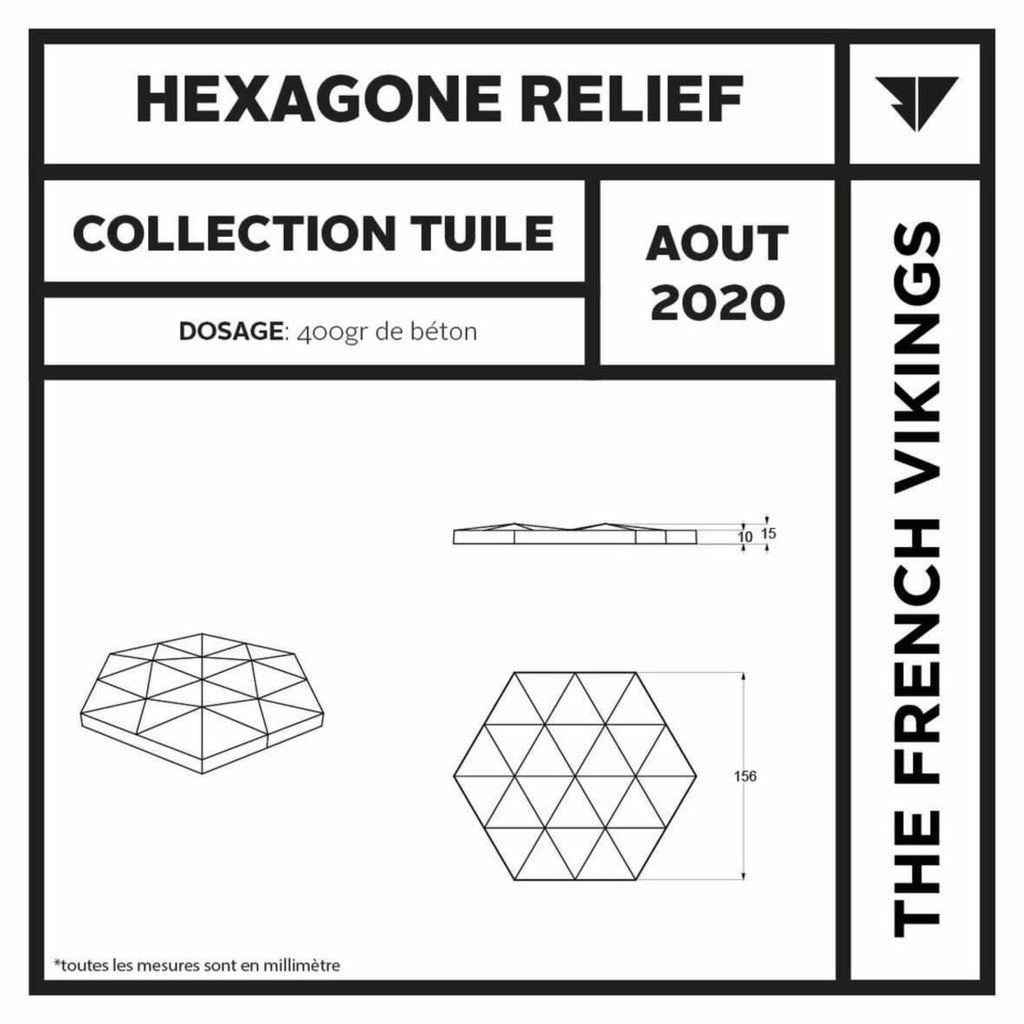 Moule hexagone relief