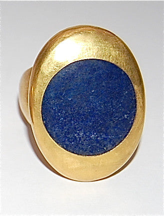 Orbit circle blue lapis ring