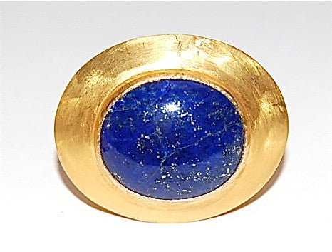 Moon oval blue lapis ring