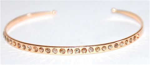 30 Cognac diamond single cut cuff