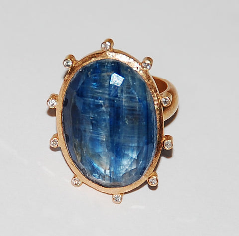 Chiara diamond Kyanite ring