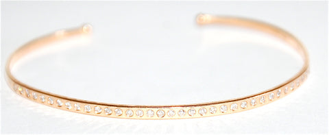 18kt Yellow gold brilliant cuff diamond cuff
