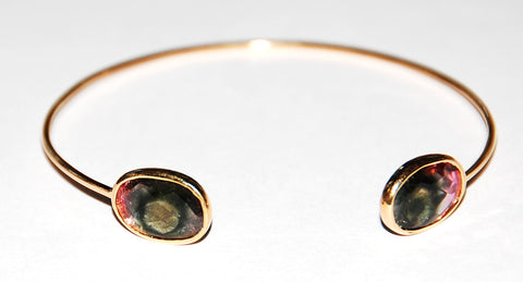 Fisheye tourmaline plain cuff