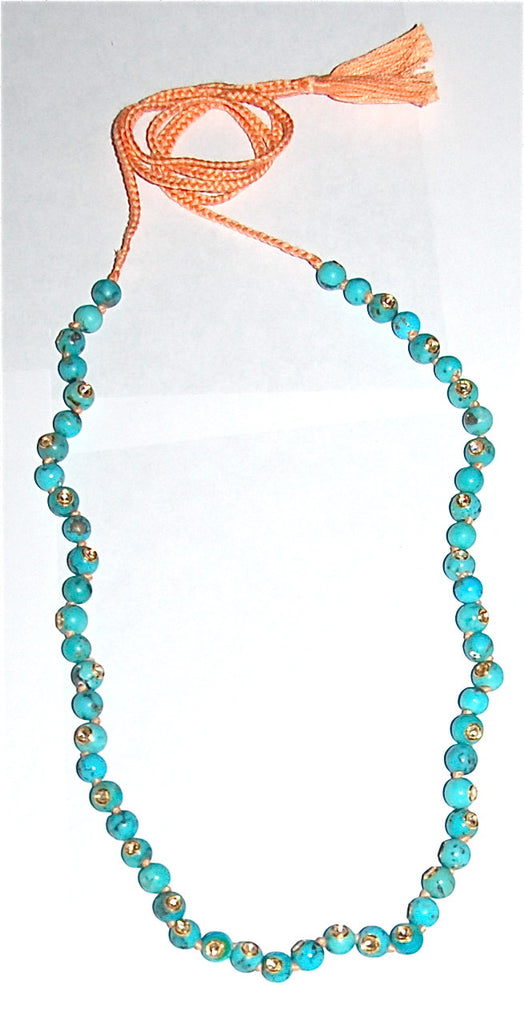 Turquoise each with 37 polki diamond