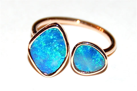 Plain double Opal Ring