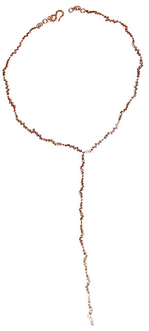 Waterfall cognac diamond necklace