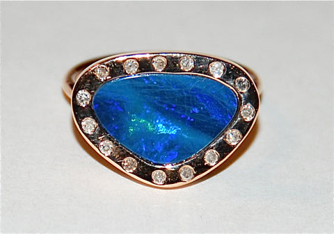 Opal with flush setting Ring