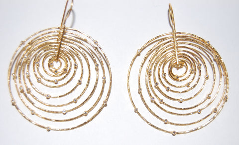 Multi-Hoop with diamonds earrings