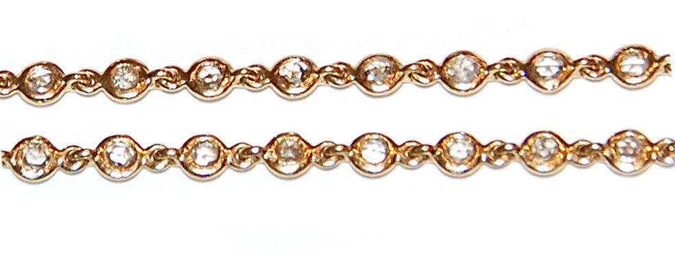 Rose cut cognac diamond chain