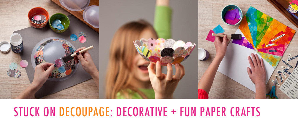 National Craft Month - Decoupage DIY Kits