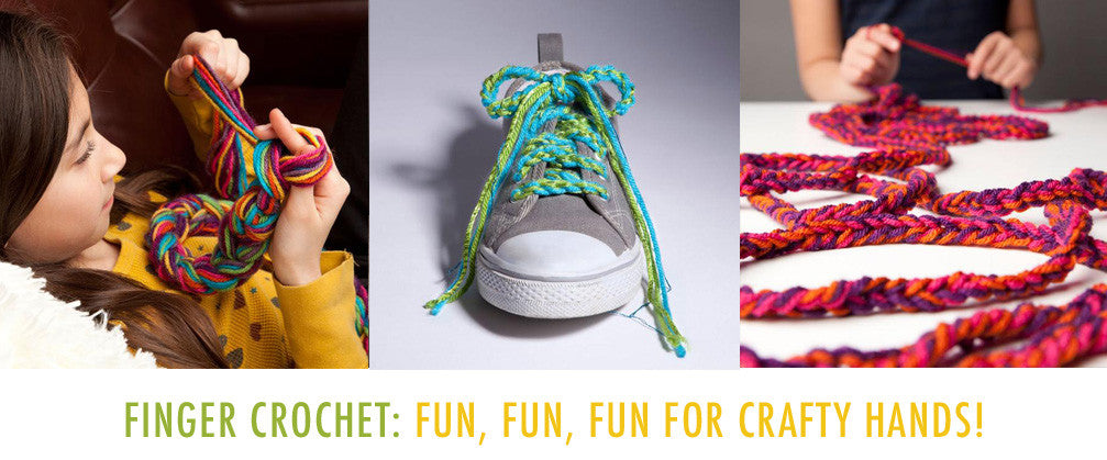 National Craft Month - Learn How to Finger Crochet
