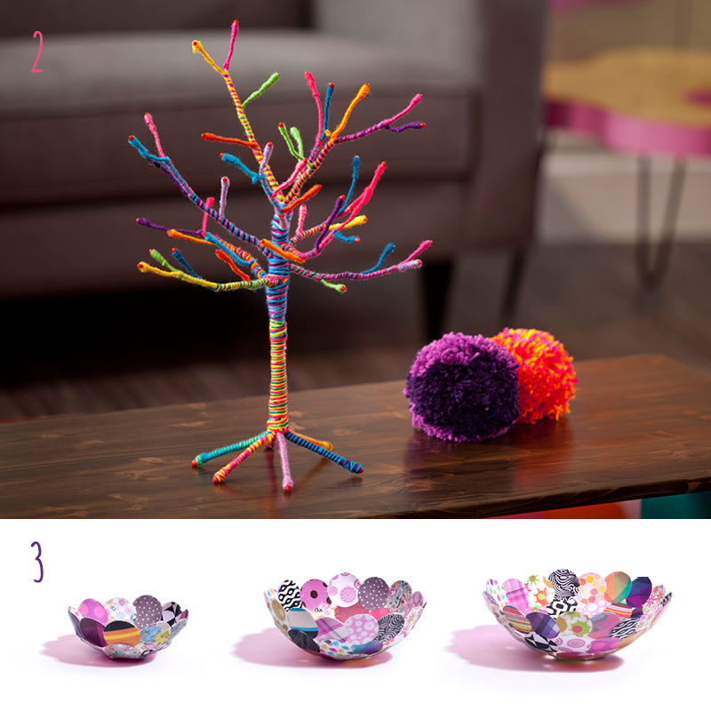 Craft-tastic Yarn Tree Kit and Craft-tastic Paper Bowl Kit