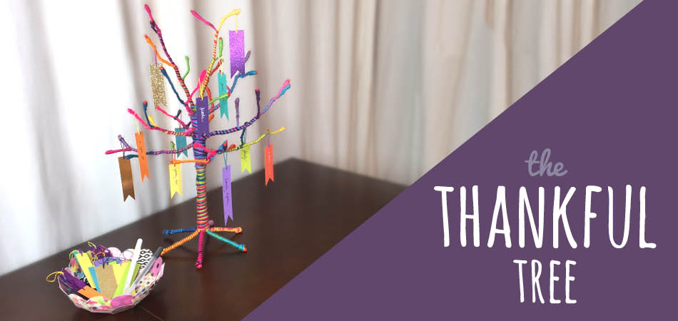 The Craft-tastic Yarn Wrapped Thankful Tree