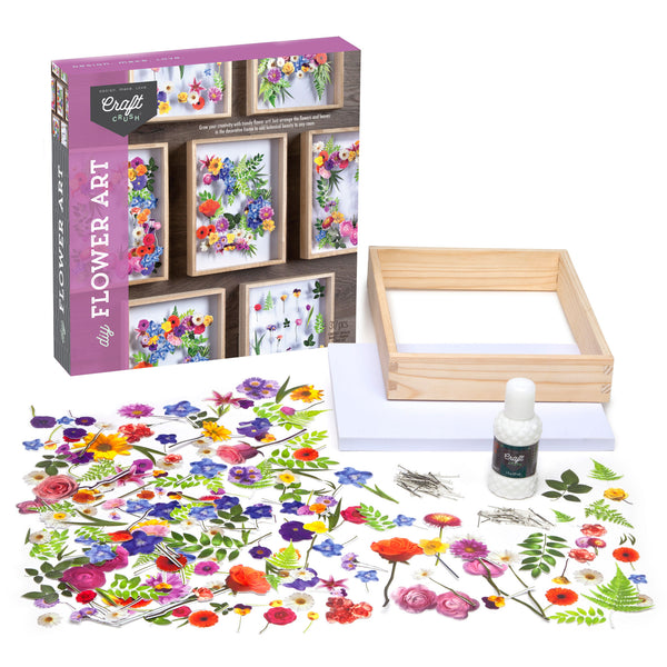 Craft Crush DIY Flower Art Kit