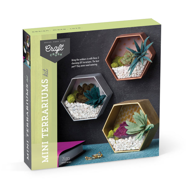 Craft Crush Mini Terrariums Kit