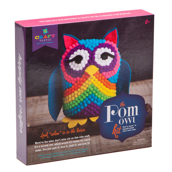 Craft-tastic Macrame Owl Backpack Charm Kit