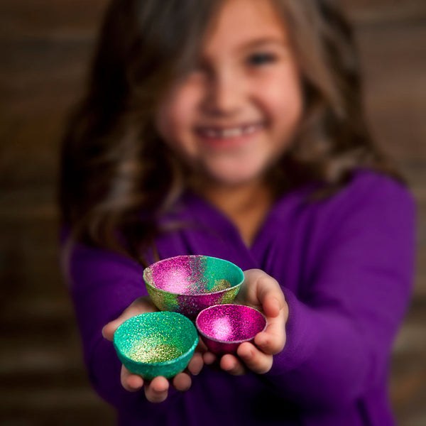 Craft-tastic Mini Glitter Bowls Kit