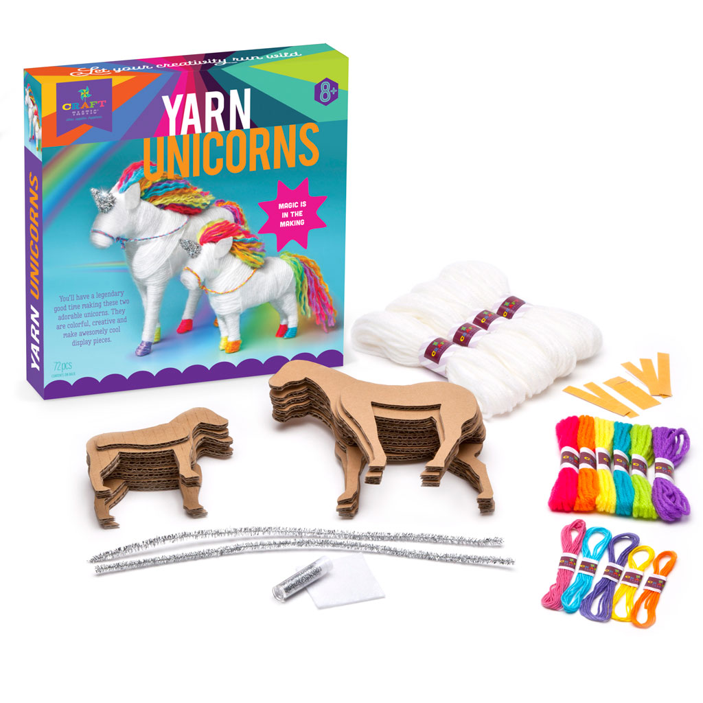 5135cbeb41a Craft-tastic Yarn Unicorns Kit - Ann Williams Group
