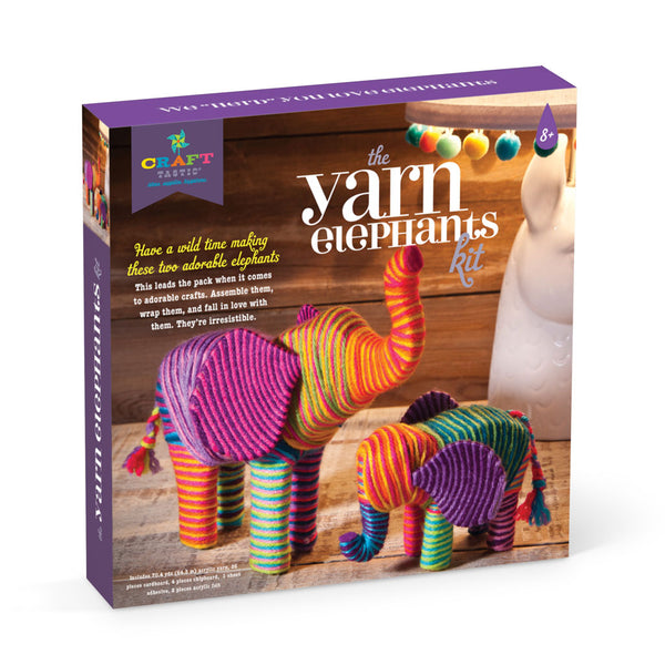Craft-tastic Yarn Elephants Kit