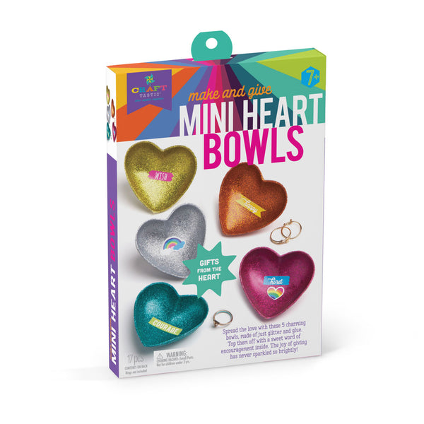 Craft-tastic Make & Give Mini Heart Bowls