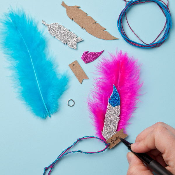 Craft-tastic BFF Feather Necklaces