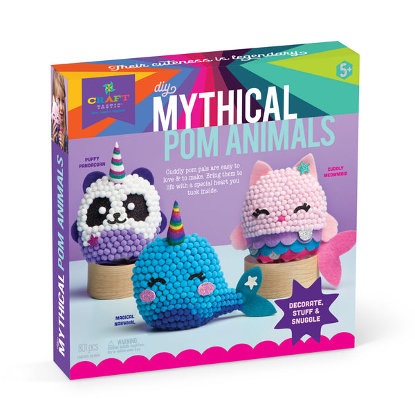 Craft-tastic DIY Mythical Pom Animals