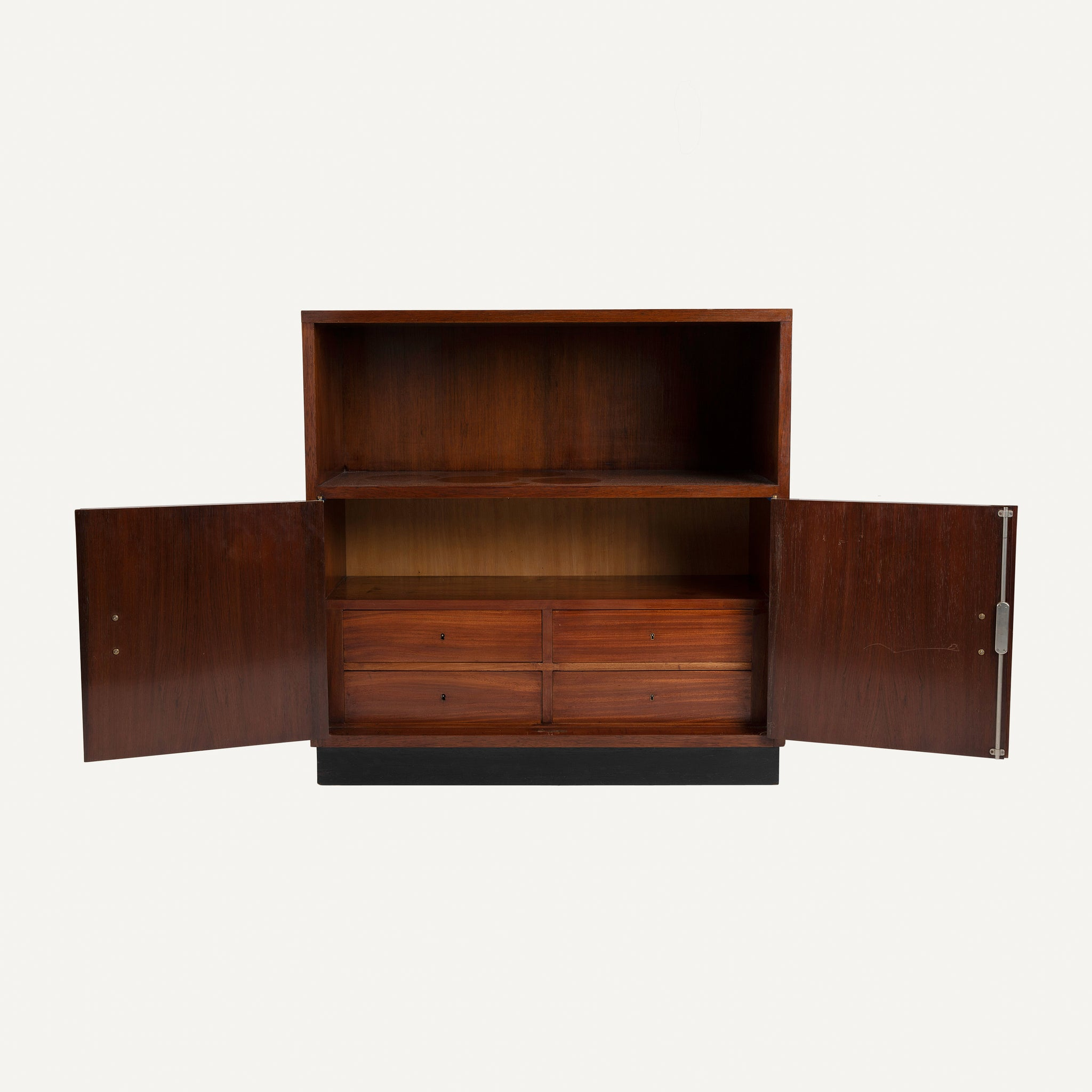 FRENCH ART DECO MAHOGANY CABINET